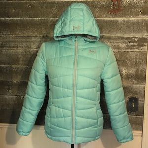 Under Armour Loose Cold Gear Puffer Coat size YXL